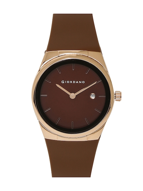 GIORDANO Men Brown Analogue Watch
