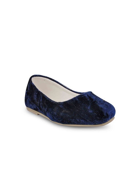 Beanz Girls Navy Blue Solid Ballerinas