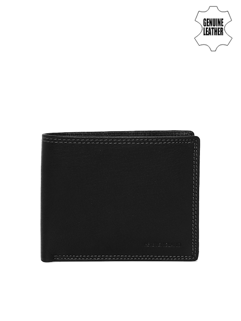 Peter England Men Black Genuine Leather Wallet