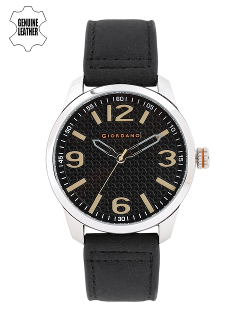 GIORDANO Men Black Analogue Watch A1049-01