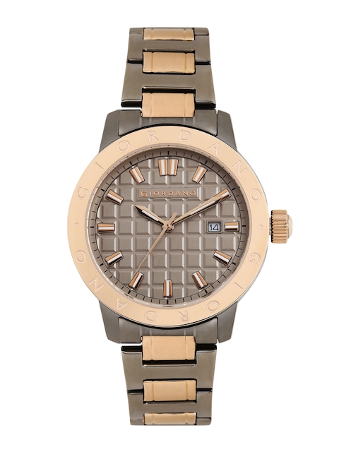 GIORDANO Men Beige Analogue Watch 1706-44
