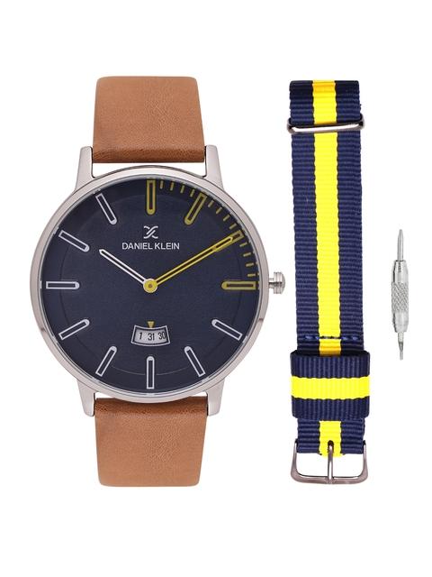 Daniel Klein Men Navy Blue Analogue Watch DK11288