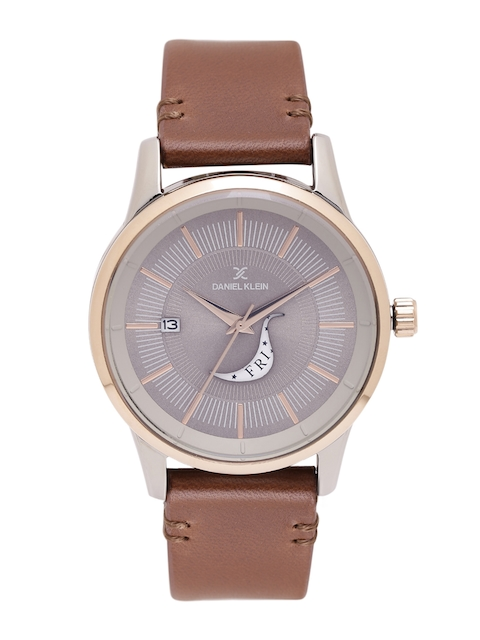 Daniel Klein Men Taupe Analogue Watch DK11300-2-400C