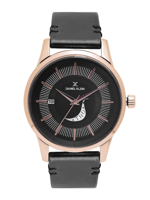 Daniel Klein Men Black Analogue Watch DK11300-5