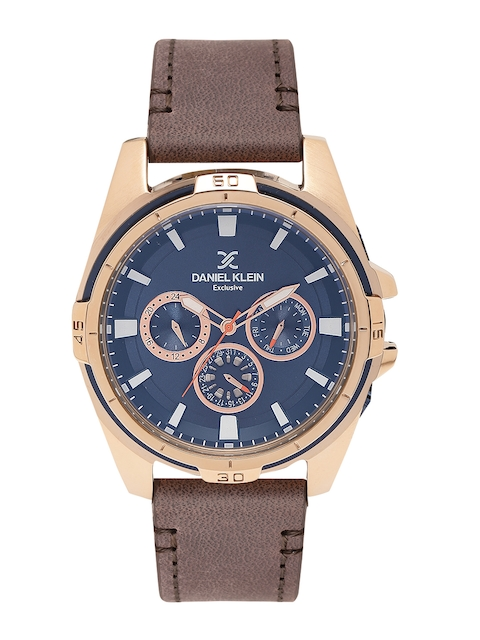 Daniel Klein Exclusive Men Navy Blue Analogue Watch DK11331-3