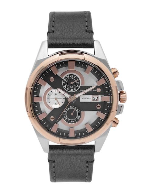 Daniel Klein Men Silver-Toned & Black Chronograph Analogue Watch DK11359-7