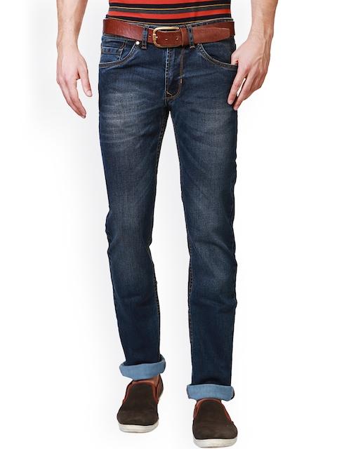 Peter England Men Blue Slim Fit Mid-Rise Clean Look Jeans