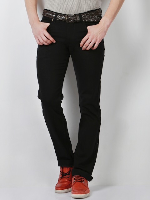 Peter England Men Black Slim Fit Jeans