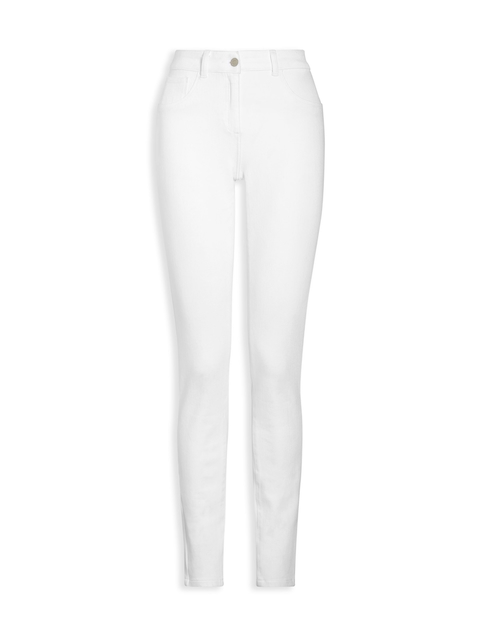 next Women White Skinny Fit Mid-Rise Clean Look Jeans