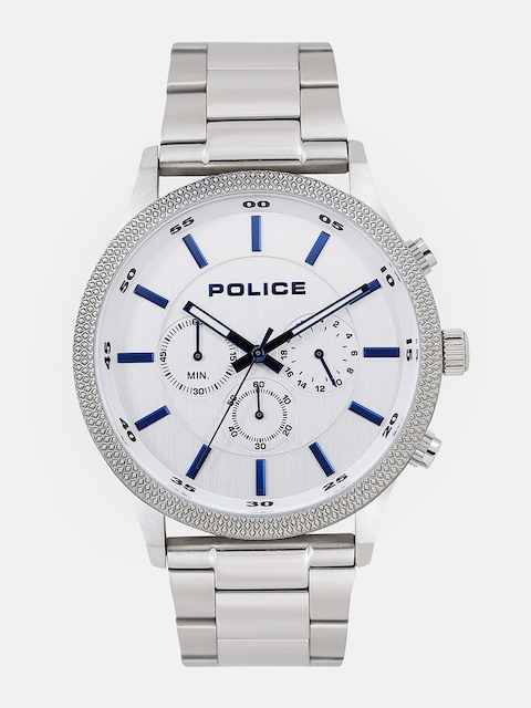 Police Men White & Blue Multi-Function Analogue Watch PL15002JS04MJ