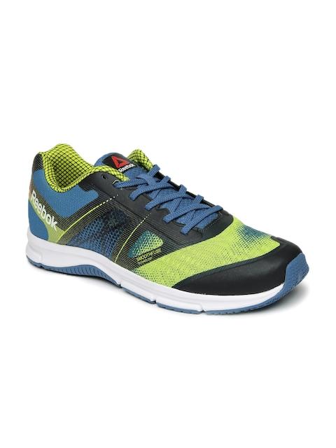 Reebok Men Blue & Neon Green QUICK WIN Running Shoes