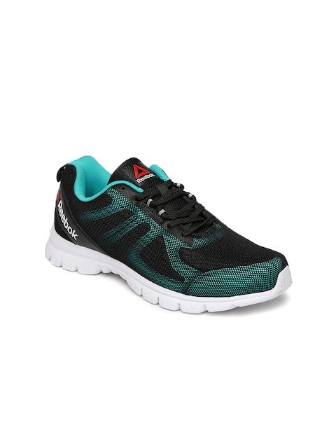 Reebok Women Black & Turquoise Blue Super Lite Running Shoes