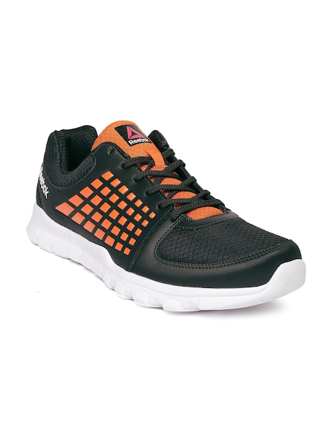 Reebok Men Charcoal & Orange ELECTRIFY SPEED Running Shoes