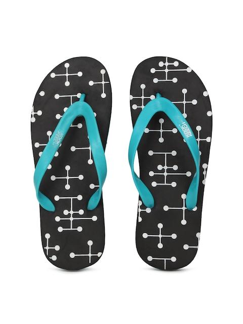 Kook N Keech Men Blue & Black Flip-Flops