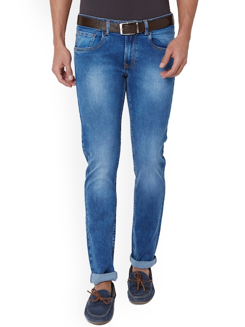Peter England Men Blue Slim Fit Low-Rise Clean Look Jeans