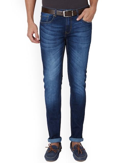 Peter England Men Blue Slim Fit Low-Rise Clean Look Jeans