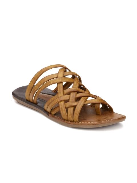 Prolific Men Brown Strappy Sandals