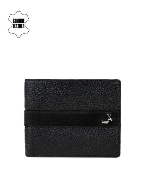 Da Milano Men Black Twofold Leather Wallet