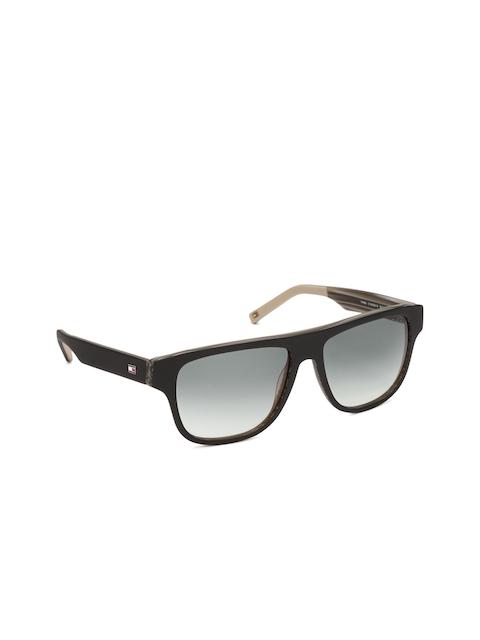 Tommy Hilfiger Men Wayfarer Sunglasses 7862 Blkgn-19 C1 55 S