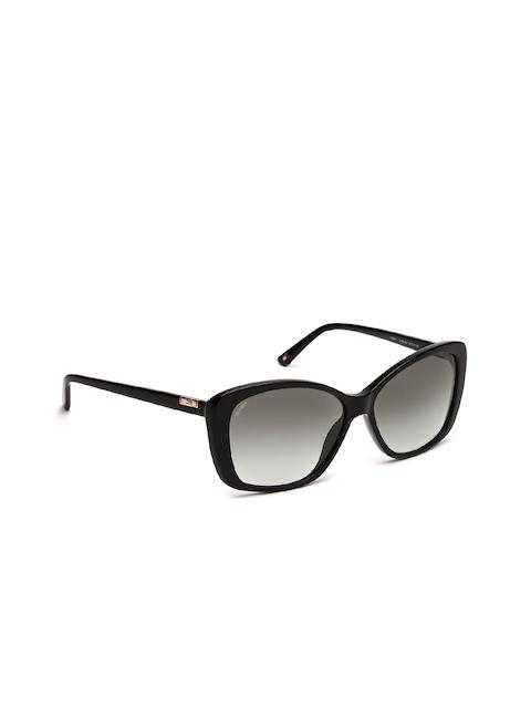 Tommy Hilfiger Women Rectangle Sunglasses 7981 Blk C1 S