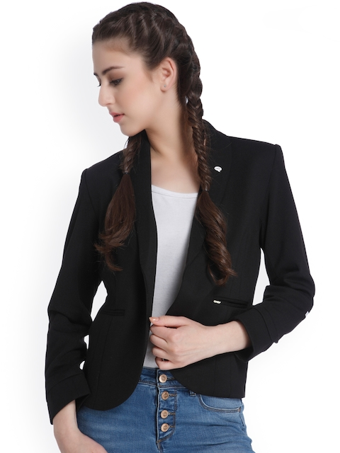 ONLY Slogan Print Black Casual Blazer