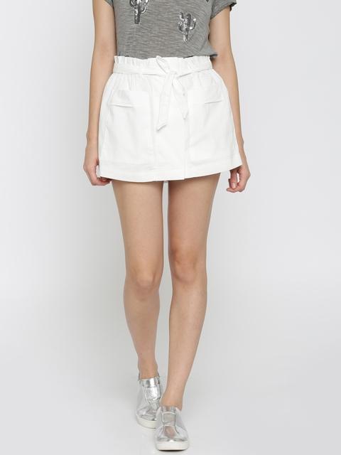 Vero Moda Off-White Mini Skort