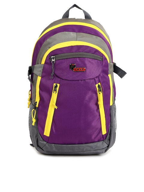 F Gear Unisex Purple & Grey Solid Profound Backpack