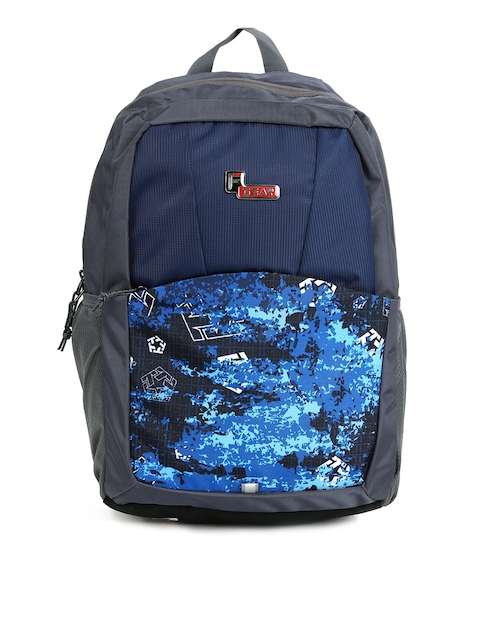 F Gear Unisex Navy & Grey Graphic Campus Backpack