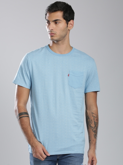 Levis Blue Printed T-shirt