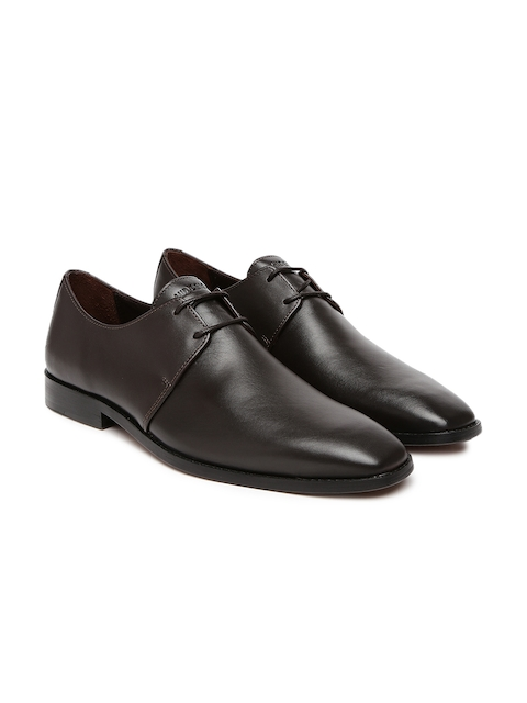 Hidesign Men Coffee Brown Formal Shoes