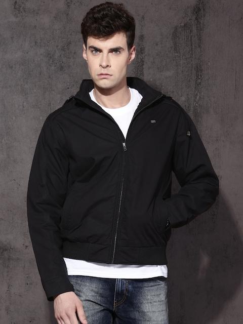 Roadster Men Black Solid Tailored Jacket