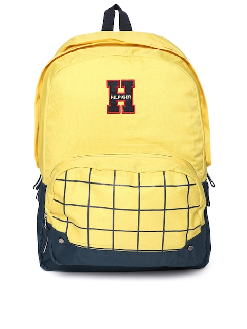Tommy Hilfiger Unisex Yellow Checked Backpack