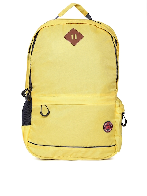 Tommy Hilfiger Unisex Yellow Solid Backpack