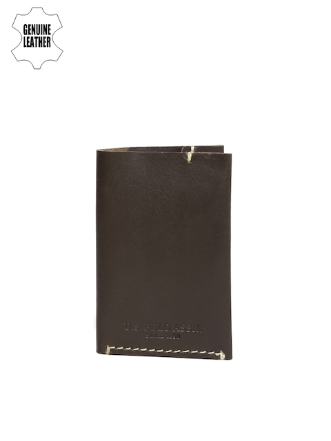 U.S. Polo Assn. Men Coffee Brown Solid Card Holder