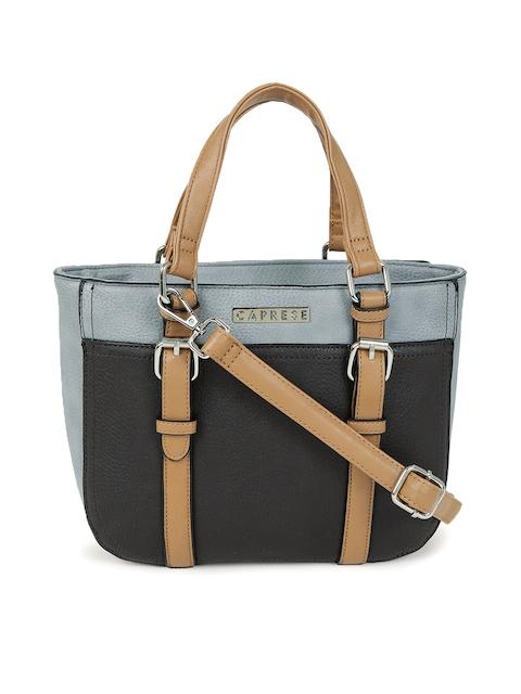 Caprese Black & Grey Handheld Bag