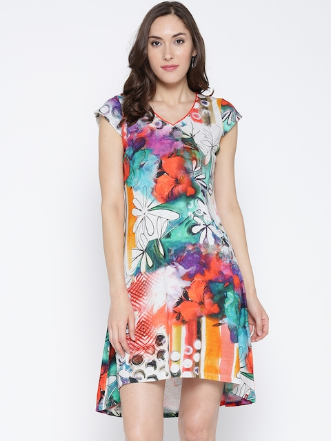 Biba Women Multicoloured Printed A-Line Dress