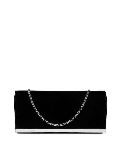 Lino Perros Black Clutch with Chain Strap