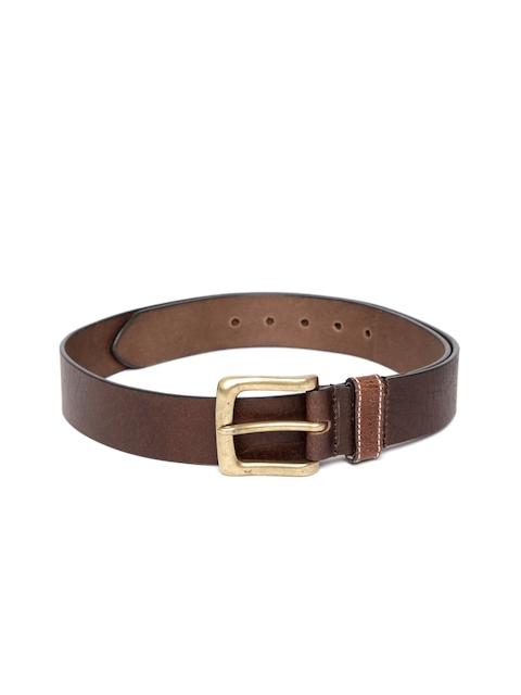 Lino Perros Men Brown Genuine Leather Belt