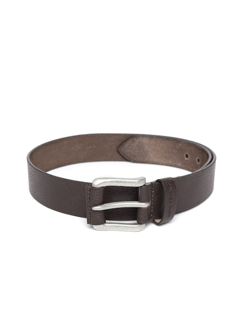 Lino Perros Men Brown Solid Genuine Leather Belt