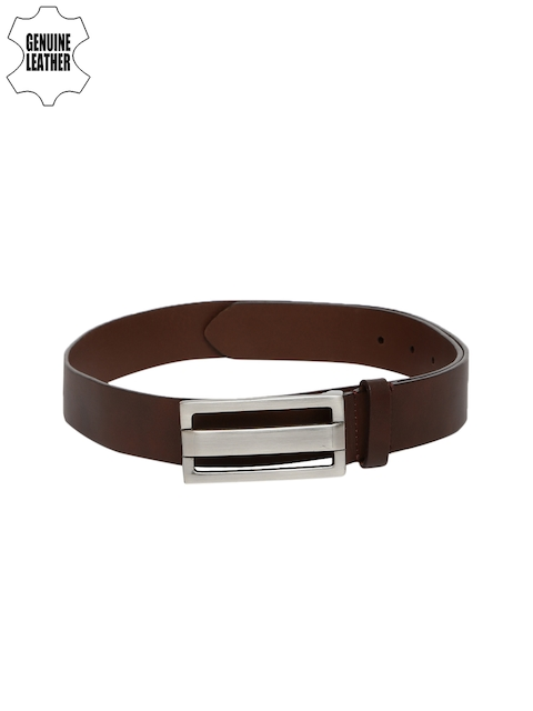 Lino Perros Men Brown Solid Genuine Leather Belt