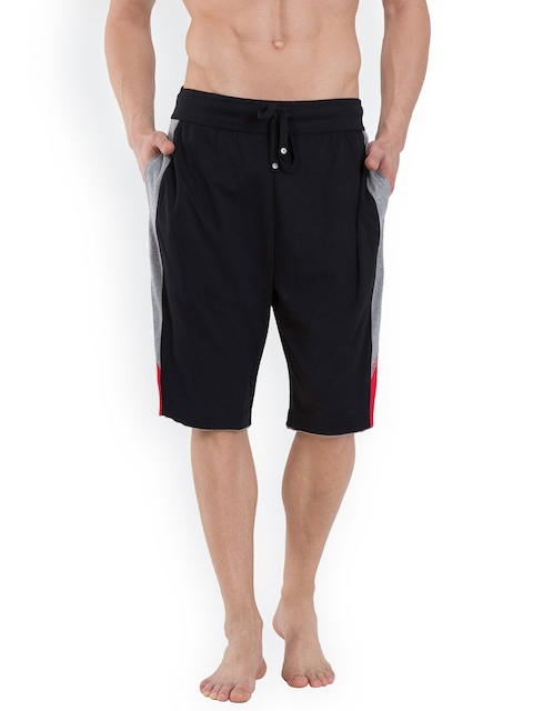 Jockey Men Black Solid Lounge Shorts