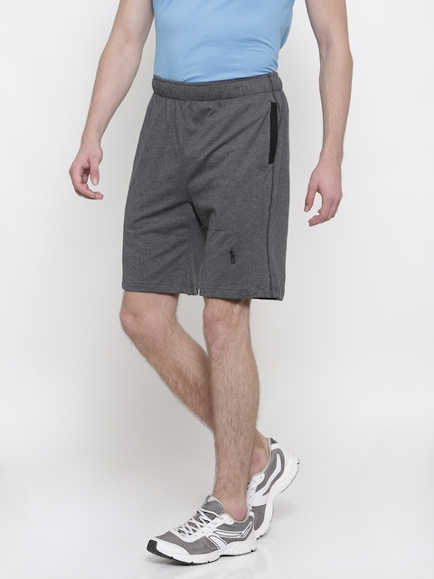 Jockey Men Charcoal Grey Solid Regular Fit Shorts