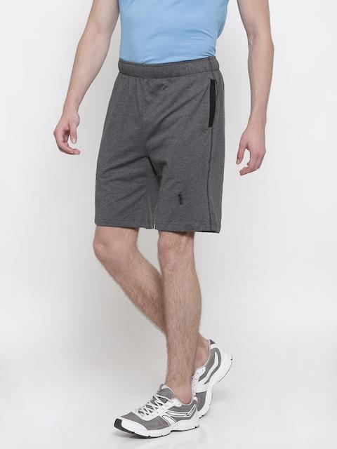 Jockey Men Charcoal Grey Solid Regular Fit Shorts