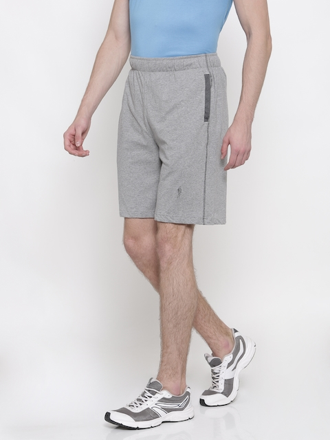 Jockey Men Grey Solid Regular Fit Shorts