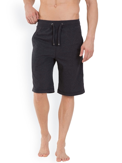 Jockey Men Charcoal Grey Straight Fit Lounge Shorts