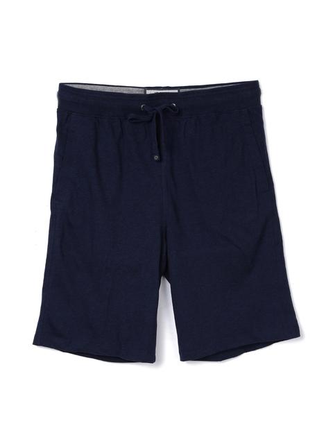 Jockey Men Navy Blue Solid Regular Fit Lounge Shorts