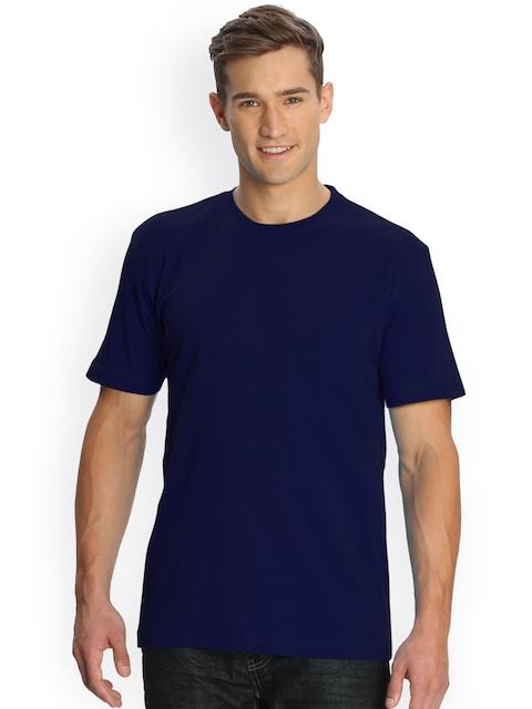 Jockey Men Navy Solid Round Neck T-shirt