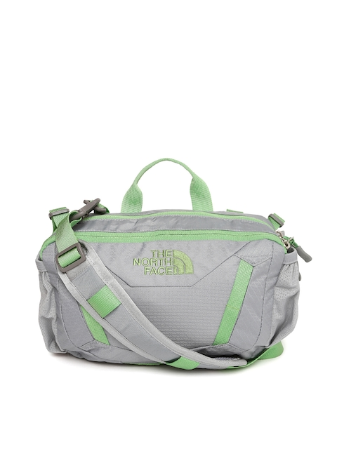 The North Face Unisex Grey & Green Waist Pouch