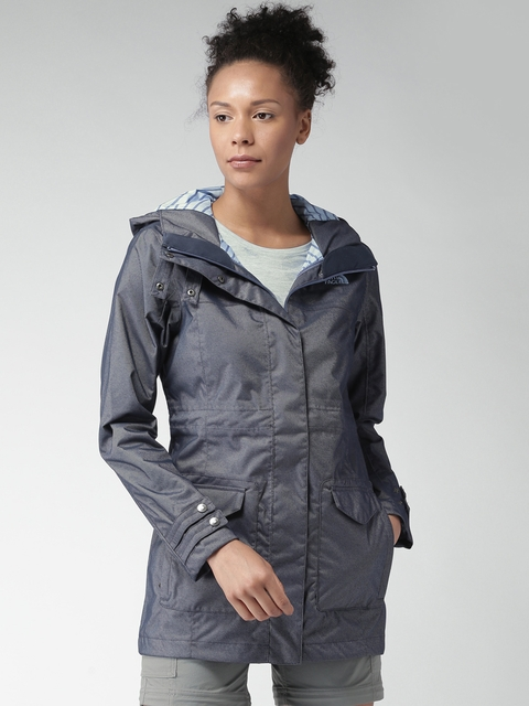 The North Face Women Blue Striped Tailored Jacket