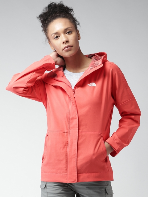 The North Face Women Orange Solid Tailored Jacket